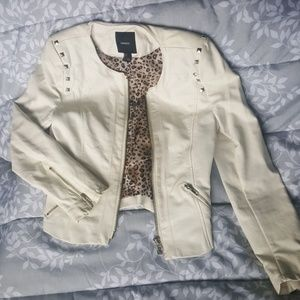 Forever 21 White Faux Leather Jacket